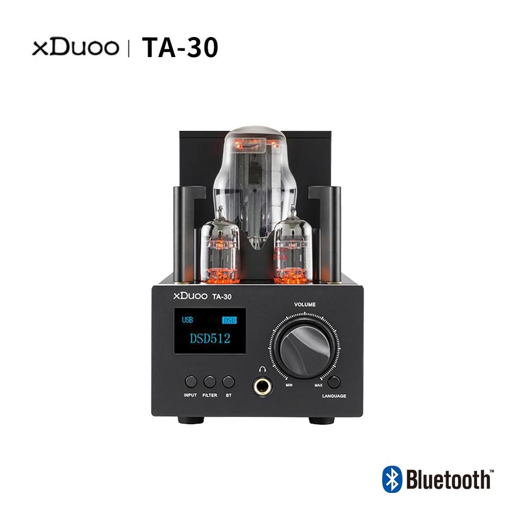 XDUOO TA-30 USB DAC ES9038Q2M HD بلوتوث عالية الأداء DSD512 DAC أنبوب مضخم ضوت سماعات الأذن