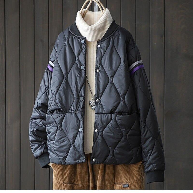 Легкая короткая стеганая куртка, Женская осенне-зимняя одежда, пуховая стеганая куртка, Корейская повседневная куртка, новая женская куртк...