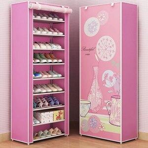 Fashion Cartoon Shoe Rack Dustproof Shoe Organizer Cabinet Multi-layer Assembly Storage Shoe Rack Cloth Home Furniture