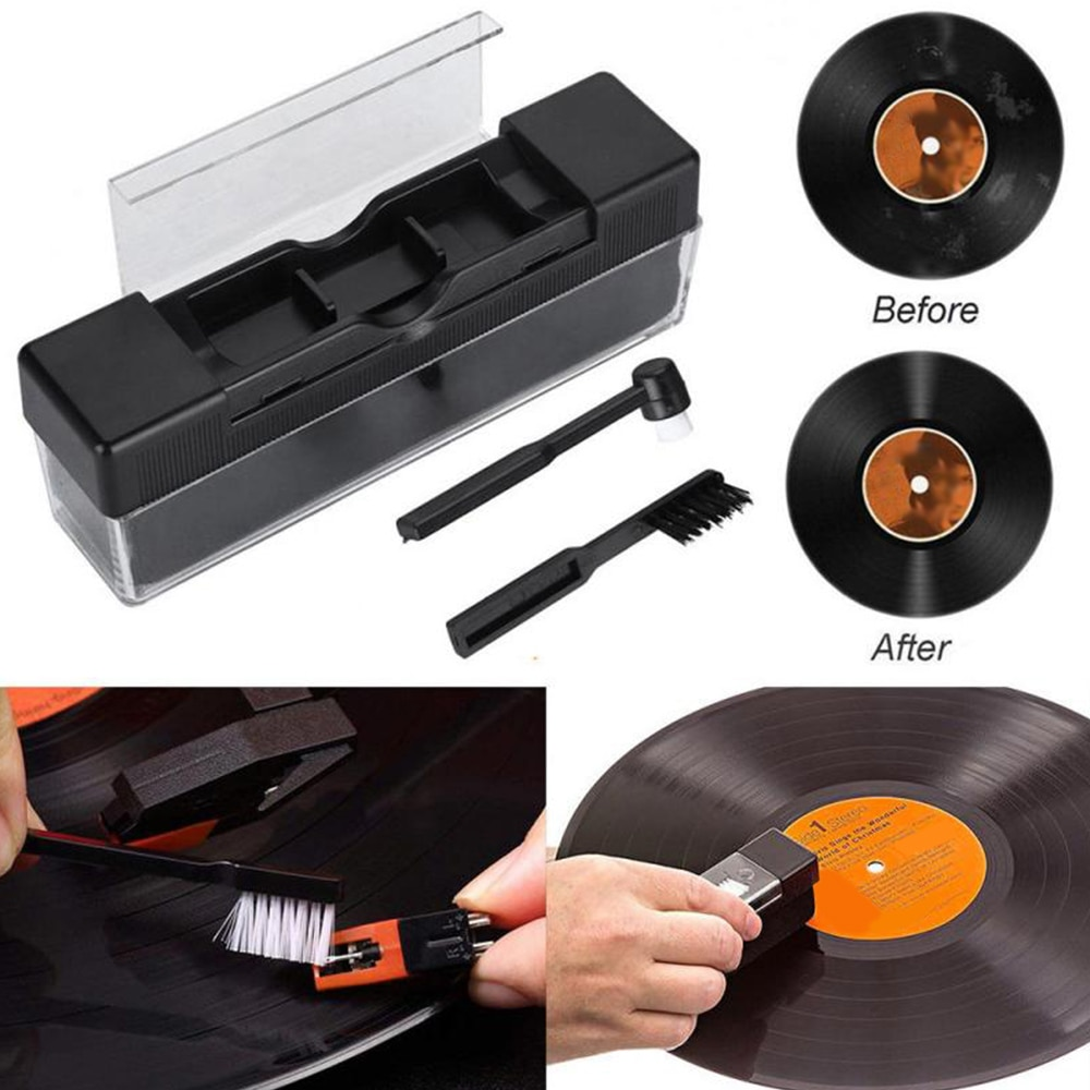 spiral crocister 8 x 1 5 in vinyl sheath with a brush and a handle vinyl cleaning device vinyl braided helix vinyl braided helix 1Set Vinyl Records Cleaning Kit Carbon Fiber Velvet Anti Static Cleaning Brush for LP Vinyl Records Tools