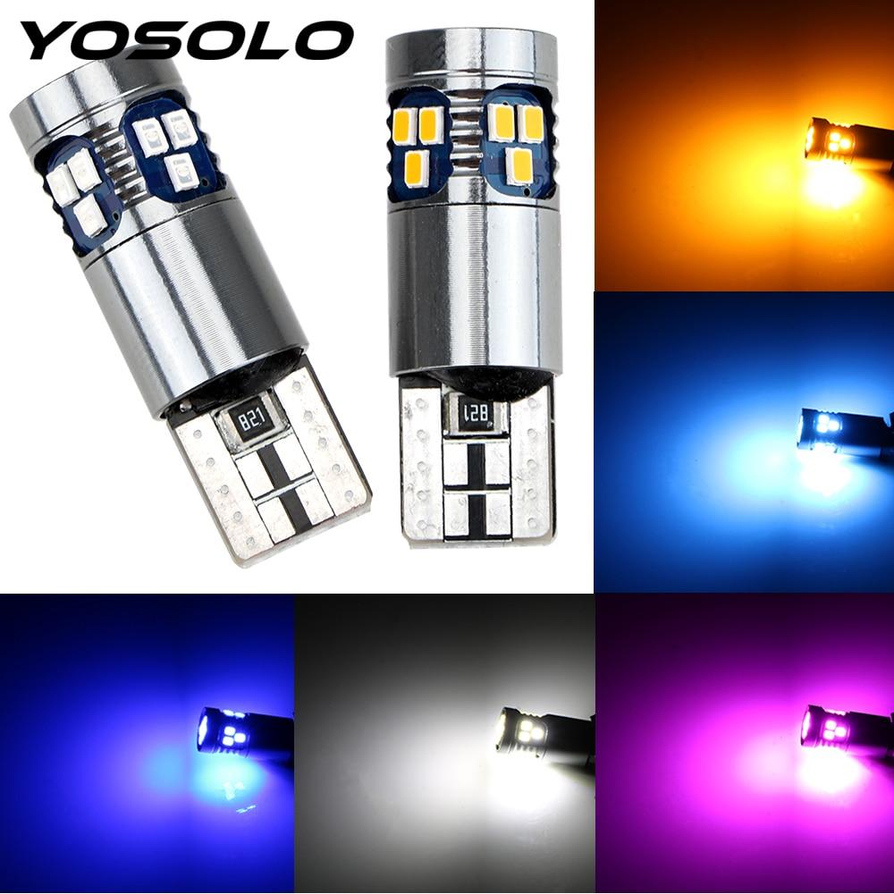 Yosolo t10 w5w 3030 super brilhante led luz de leitura do carro 18 smd marcador lâmpada interior luz indicadora