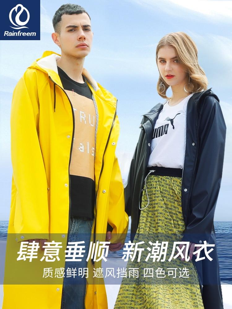 Long Body Rain Coat Women Yellow Raincoat Men's Waterproof Outdoor Rain Poncho Women's Pink Windbreaker Jacket Hiking Gift Ideas enlarge