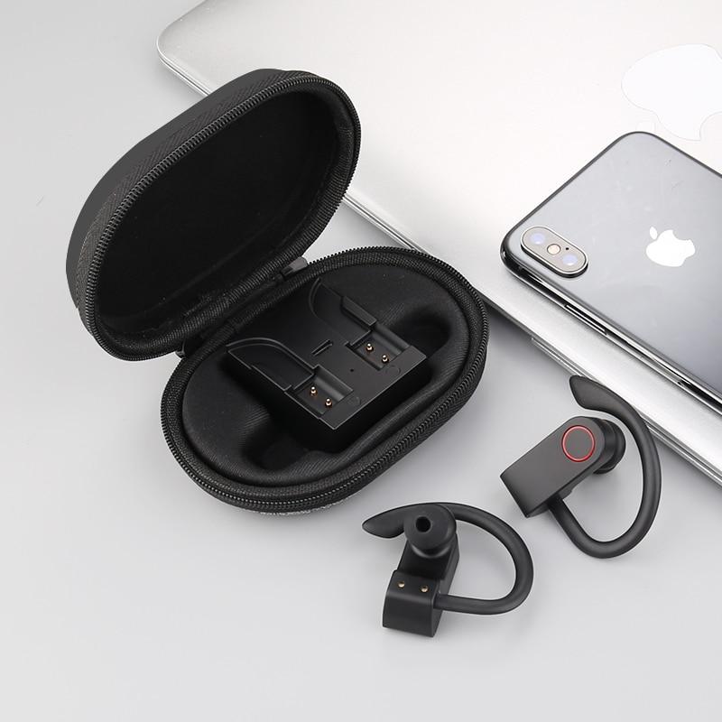 WS auriculares Bluetooth 5,0 auriculares deportivos de sonido HIFI auriculares para juegos Mini auriculares inalámbricos estéreo en la oreja con micrófono para teléfono