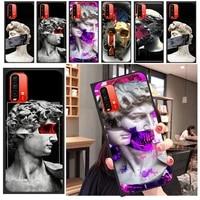 cute david art phone case for xiaomi redmi note 10 10s 10t pro max note 9s 9t 9 pro max 5g coque back cover soft tpu carcasa