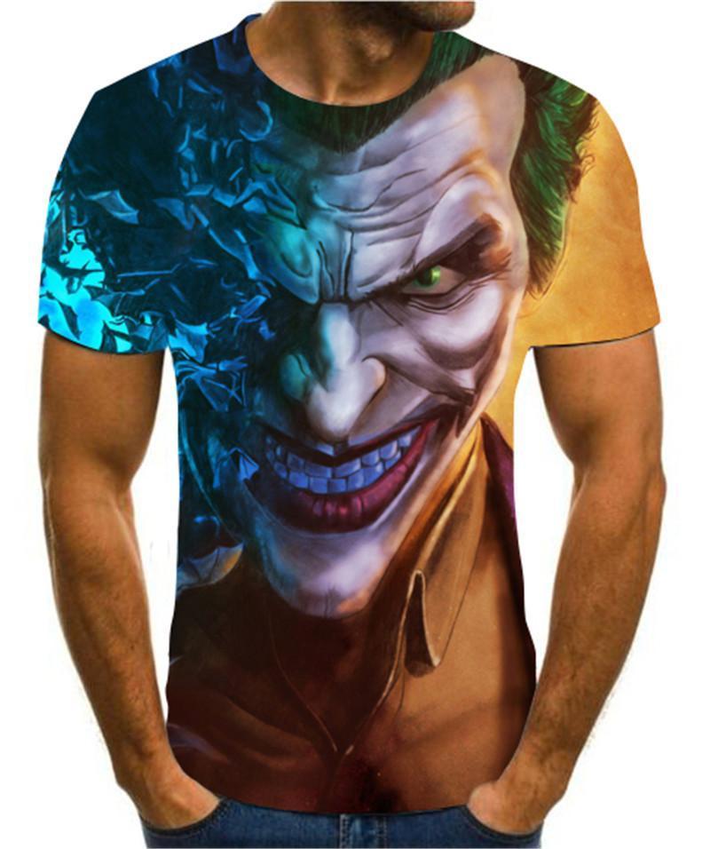 Camisetas modernas veraniegas es 3D para hombre ropa con estampado creativo de...