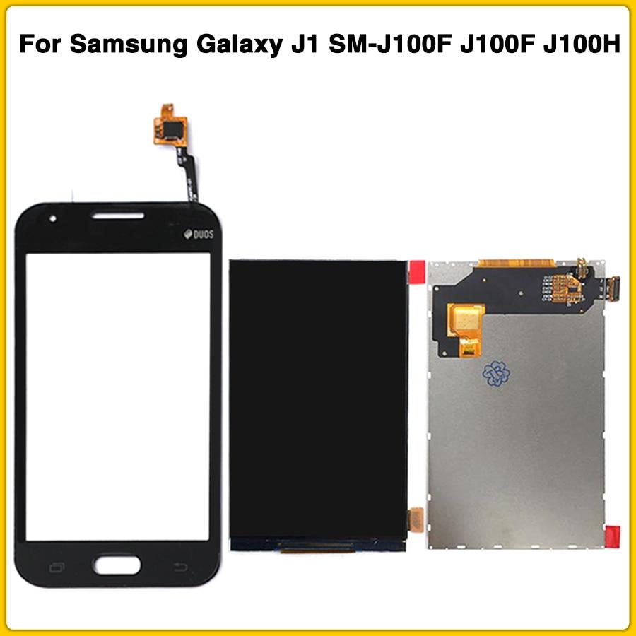Nuevo Panel táctil LCD para Samsung Galaxy J1 SM-J100F J100F J100H LCD pantalla táctil digitalizador Sensor frontal lente de vidrio exterior