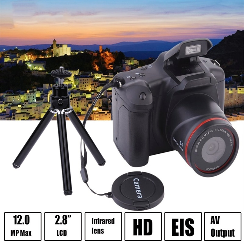 SLR 2.4 بوصة TFT LCD شاشة المنزل الصغيرة SLR كاميرا رقمية كاميرا ويب 16X التكبير USB 2.0 المقربة AV واجهة كاميرا رقمية + ترايبود