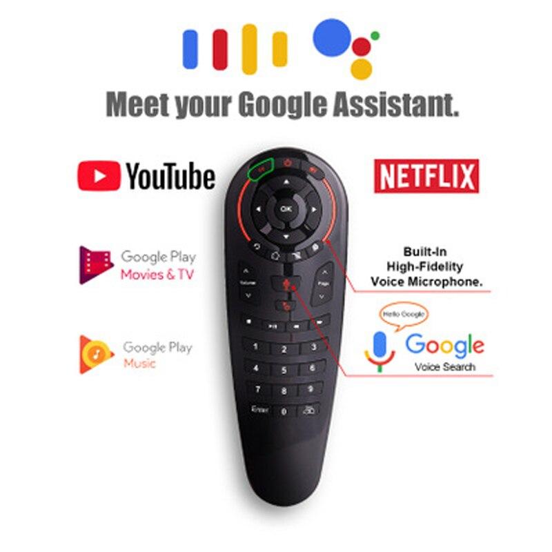G30 2.4g voz sem fio mouse ar controle remoto 33 teclas ir aprendizagem giroscópio detecção de controle remoto inteligente para o jogo android caixa tv