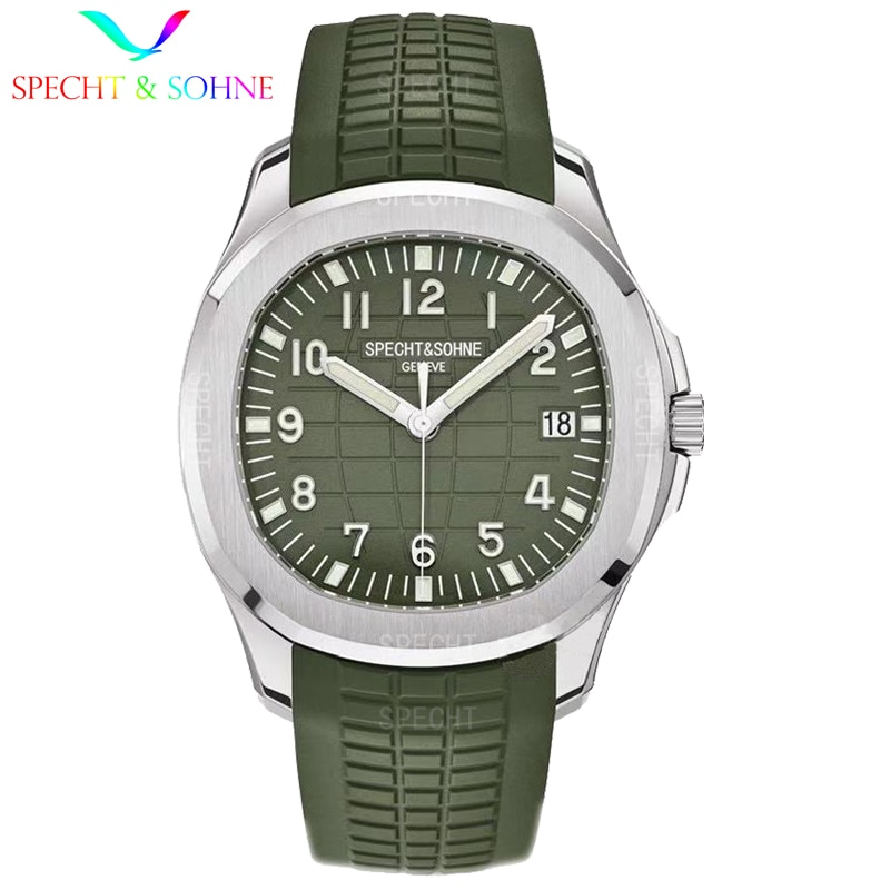 2021 New Luxury SPECHT&SOHNE Men Mechanical Wristwatch Rose Gold Stainless Steel Automatic Watch Rubber Strap Reloj Hombre 3ATM enlarge