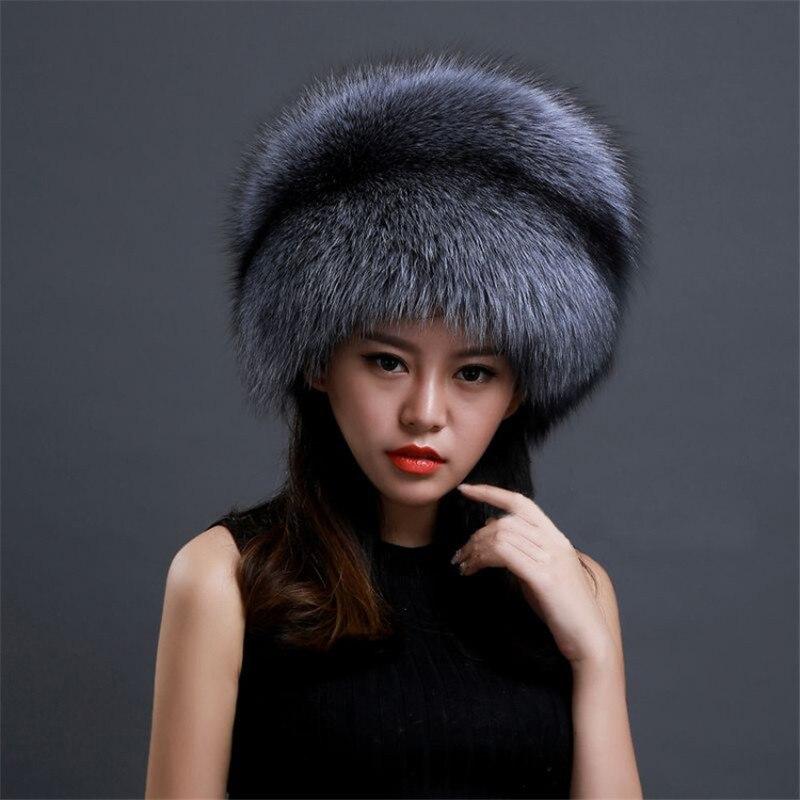 New Hat Female Winter Lei Feng Fur Fox Fur Hat Dome Mongolia Hat Russian Snow Hat Thick Warm Fox Fur Hat
