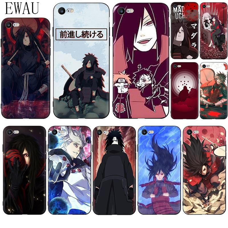 EWAU Madara Uchiha Naruto miękki silikonowy futerał na telefon dla iphone SE 2020 5 5s SE 6 6s 7 8 plus X XR XS 11 Pro Max