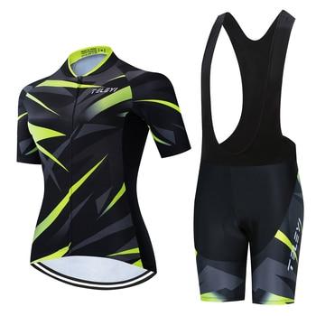 Rcc céu 2020 pro equipe conjunto camisa de ciclismo feminino mtb ciclismo roupas anti-uv bicicleta wear manga curta roupas uniforme