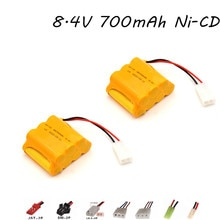8.4v 700mAh Ni-CD Battery For Rc Toy Car Boat Tanks Robots Guns Parts 7* AA 8.4v Rechargeable Batter