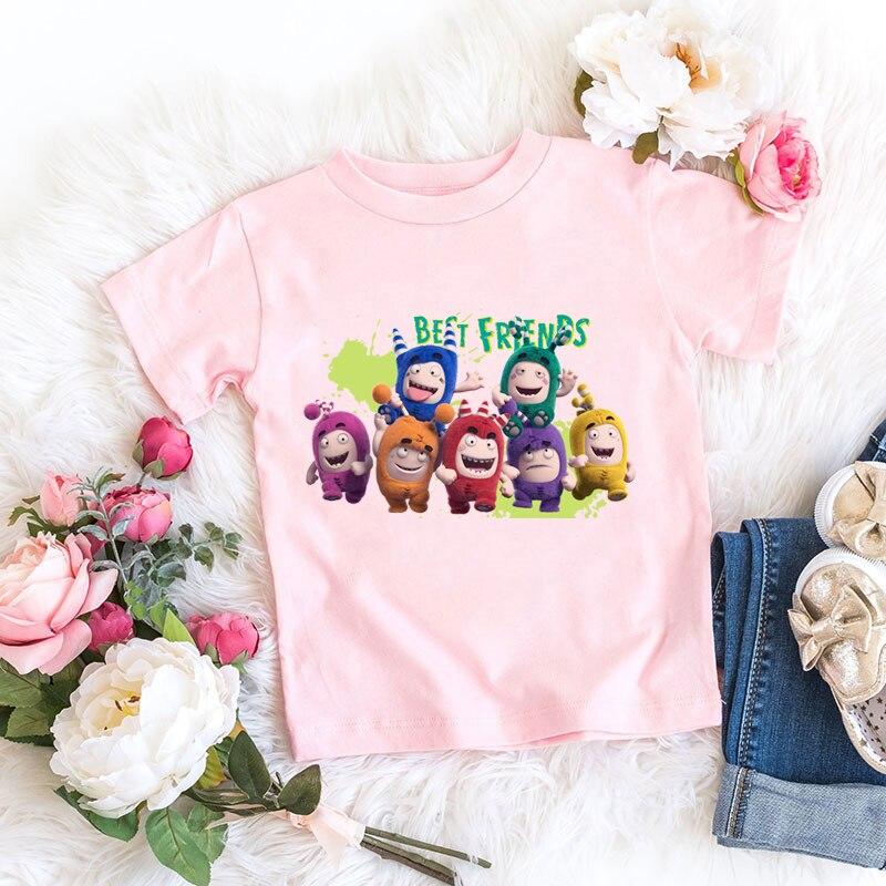 N ew-Camiseta de estilo veraniego para niños, camiseta rosa con estampado de...