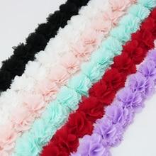 Décoration de ruban en tissu dentelle   Dentelle en mousseline de soie, accessoires de vêtements fleuris, artisanat de ruban en cadeau, dentelle de base non tissée, 1 mètre