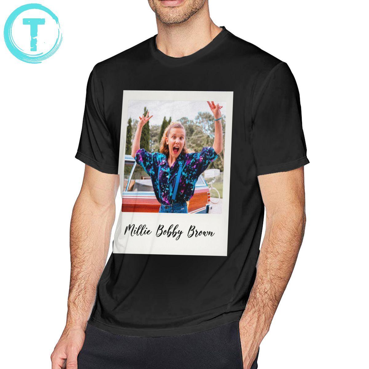 Millie Bobby Brown T Shirt Millie Bobby Brown Polaroid T-Shirt Basic Short Sleeves Tee Shirt Plus size  Tshirt