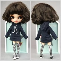 classic manual hoodie for blythe doll sweatshirt outfits fashion doll top clothes for blyth doll kids toy 16 doll accessories