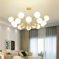 nordic magic bean pendant lights glass ball light lamp for bedroom living room decoration modern creative hanging lamps fixture