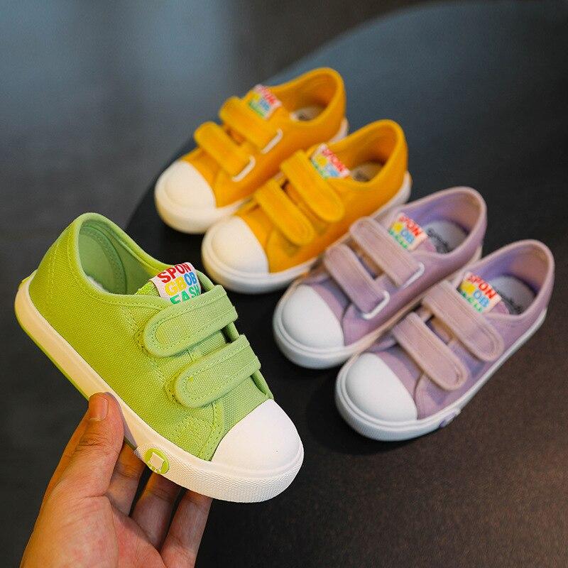 Zapatillas de deporte blancas para niños y niñas, zapatos de lona para...