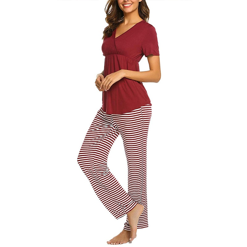 2pcs/Set Pregnant Nursing Clothes Home Leisure Breastfeeding Casual Pregnant Maternity Clothes Maternity Pant And Nursing Tops enlarge