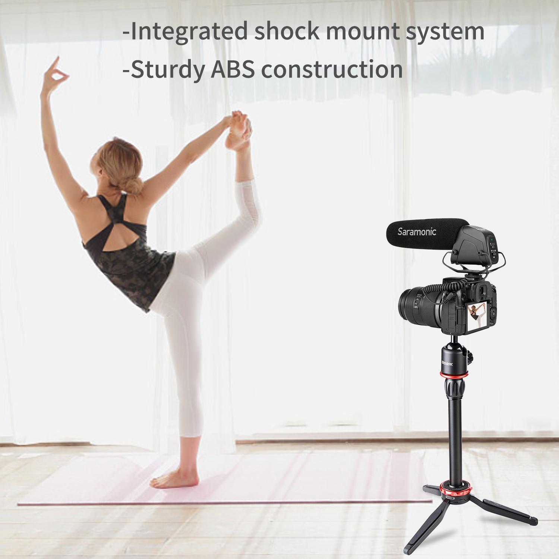 Saramonic SR-VM4 Super-Cardioid Lightweight Directional Condenser Microphone for DSLR Camera Camcorder Interview Shoot Video enlarge