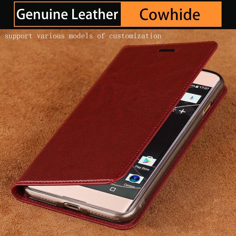 Чехол-книжка из воловьей кожи для Sony Xperia Z2 Z3 Z4 Z5 X XZ1 XZ2 XZ3 XZ4 Compact XA XA1 XA2 ultra XZ Premium для xperia 5 8 10 plus