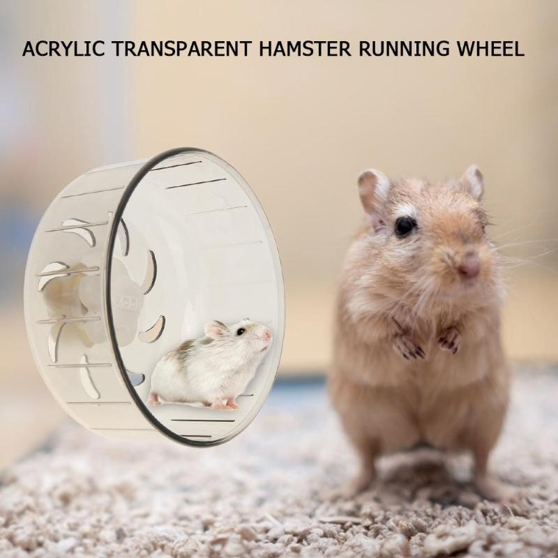 Accesorios de jaula para hámster con ruedas transparentes para correr con ruedas para mascotas silenciosas y pequeñas ruedas para correr