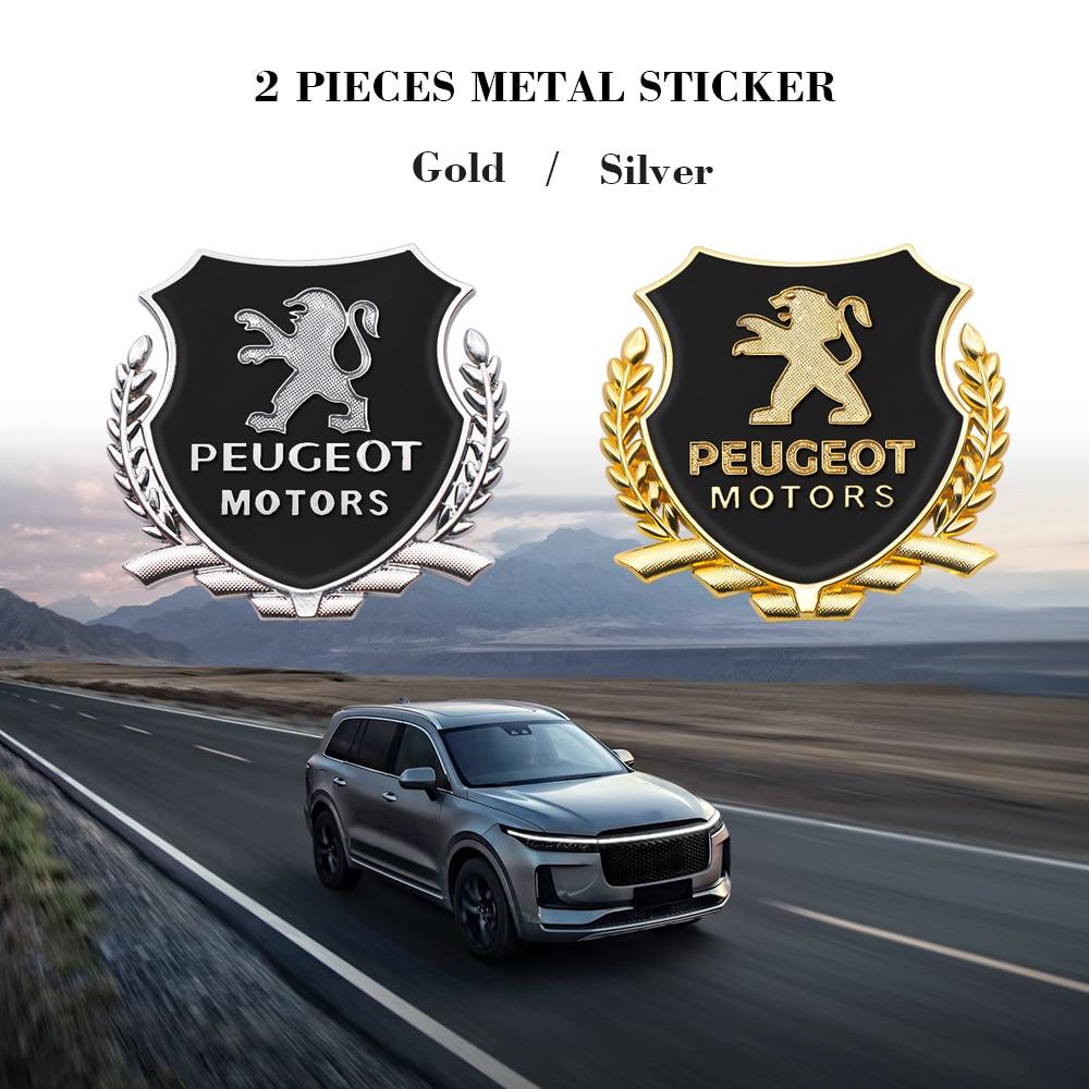 AliExpress - 2PCS 3D Metal Car Side Door Badge Emblems Stickers Decals For Peugeot 107 108 206 207 308 307 407 508 2008 3008 RCZ Car Styling