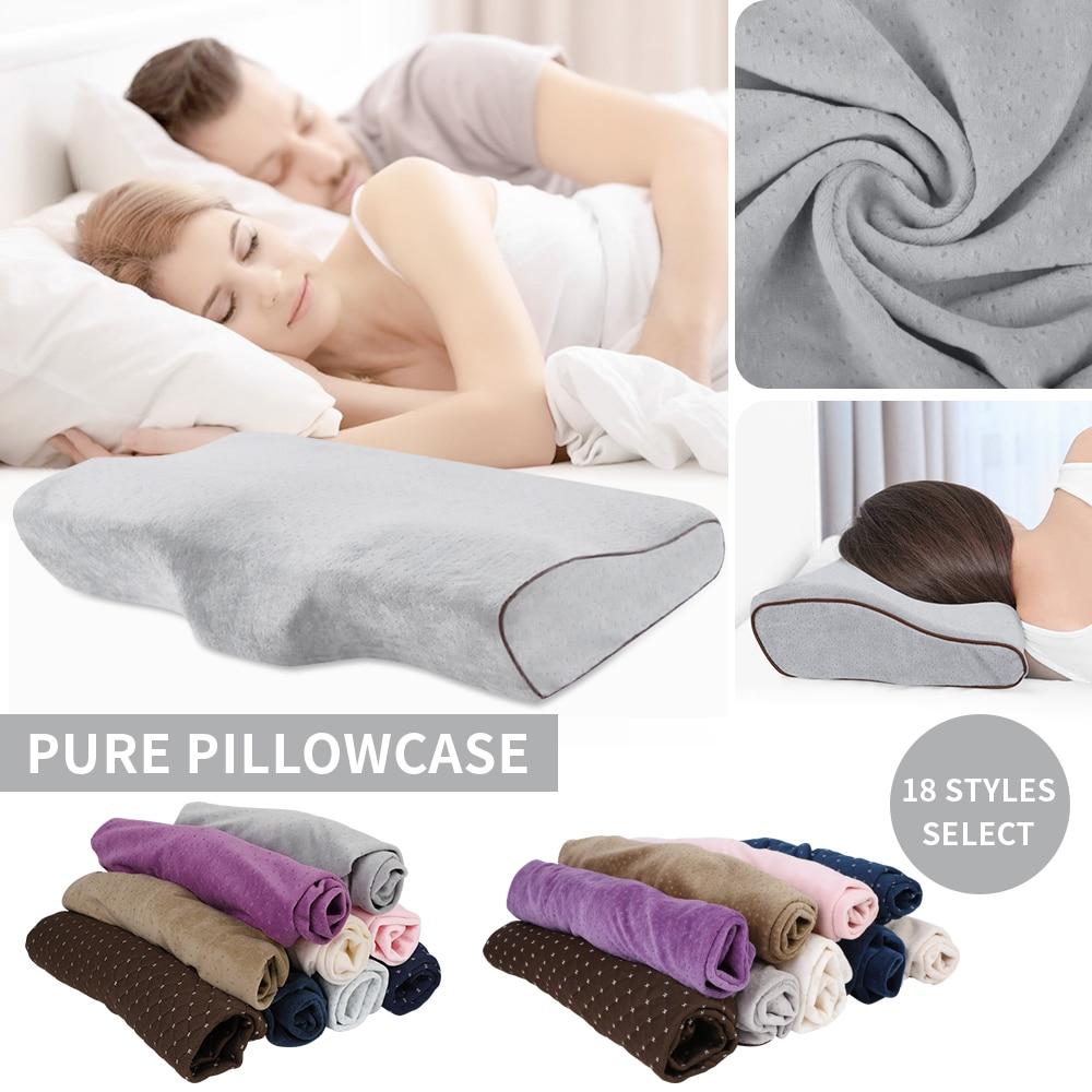 De espuma de memoria, espacio almohada casos suaves fundas para almohadas lentamente rebote cuello salud 50X30 cm almohada caso