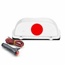 12V 자동차 천장 조명 방수 LED 천장 조명 일본 플래그 탑 라이트 자석 자료
