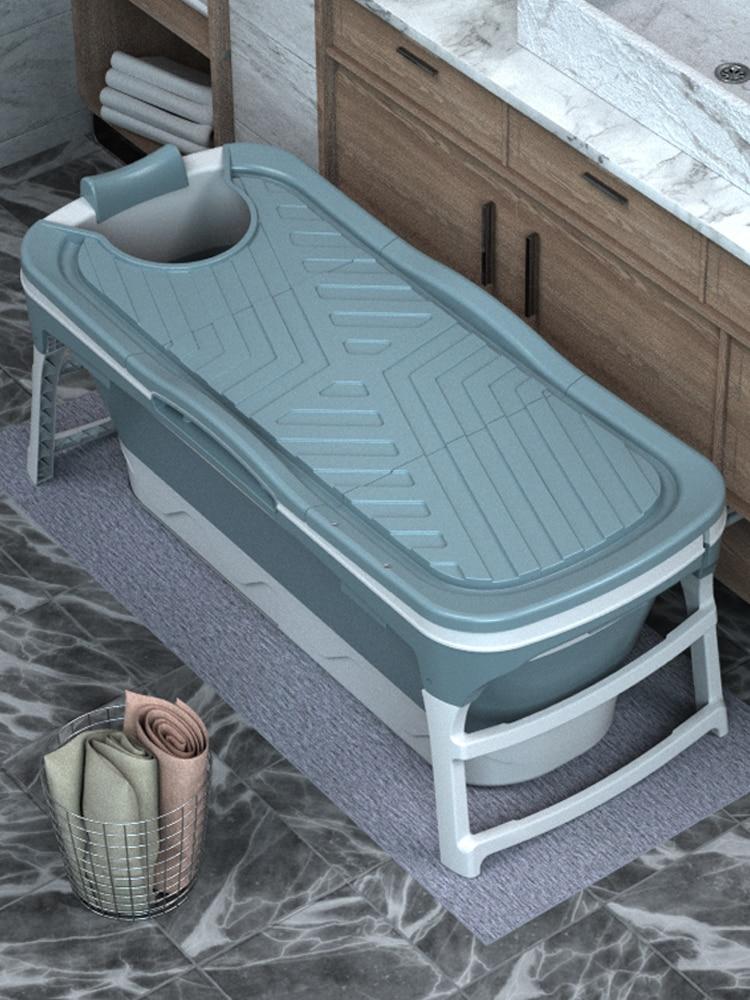 Balde de banho adulto estável dobrável balde de banho adulto resistente de alta temperatura do agregado familiar balde de banho fácil armazenar todo o corpo bat