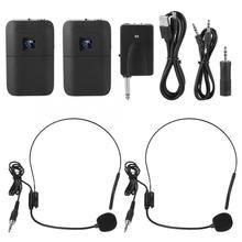 Tragbare Drahtlose UHF Mic Head-mounted-Mikrofon mit Empfänger Sender Microfone