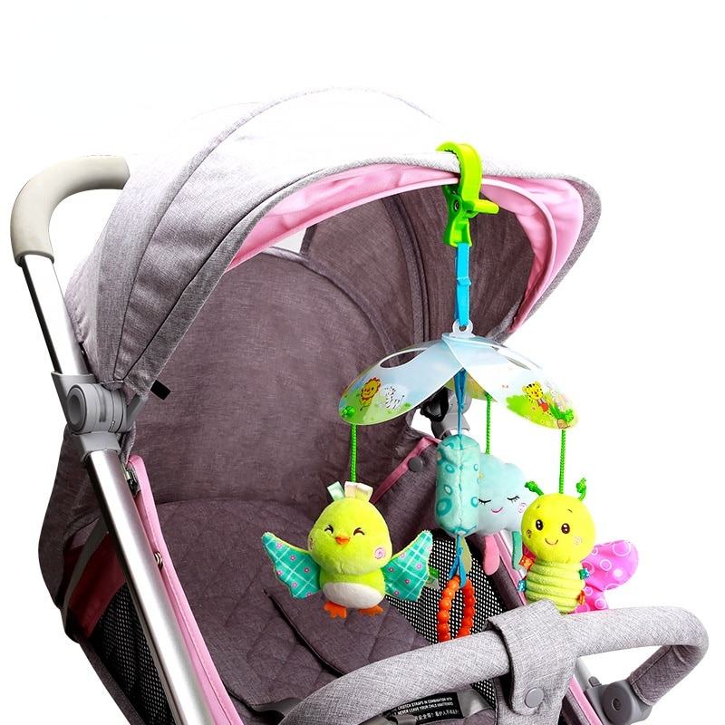 0-1 Years Old Baby Grasping Hearing Baby Toys Baby Early Education Bed Bell Car Hanging Bed Hanging