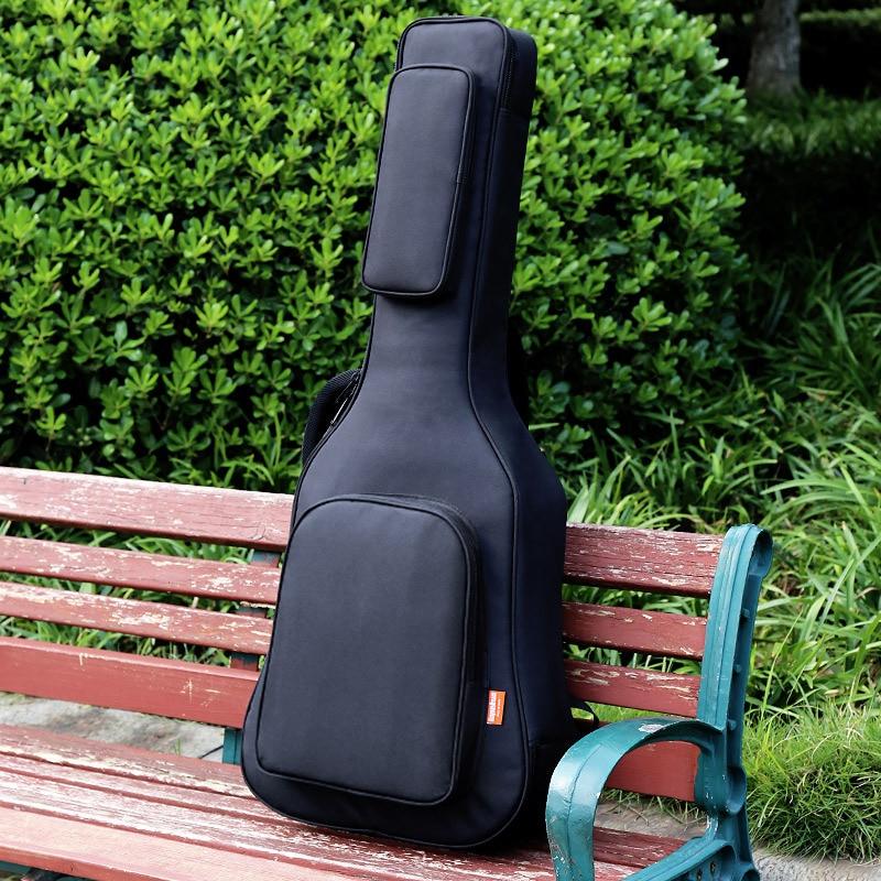 40/41 Inch Acoustic Classical Guitar Bag Case Backpack Adjustable Shoulder Strap Portable 20mm Thicken Padded Black