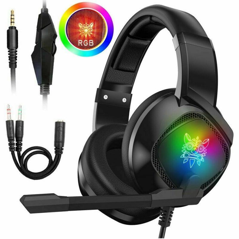 Em Stcok! 1 pc 3.5mm gaming fone de ouvido estéreo led para xbox um/ps4/pc/nintendo interruptor fastshipping dropship alta qualidade