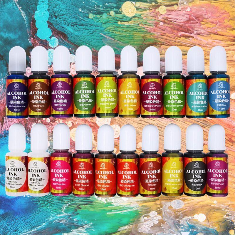 Resina epoxi líquido de pigmento, tinta colorante, resina de difusión, pinturas acrílicas para artistas, piedra cerámica, arte de pared 20 colores