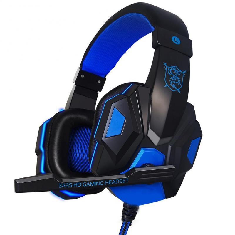 Auriculares portátiles para juegos, auriculares con cable para juegos, para PS4, Xbox, Nintendo, Switch, IPad, PC, micrófono, audífonos, hecho a mano