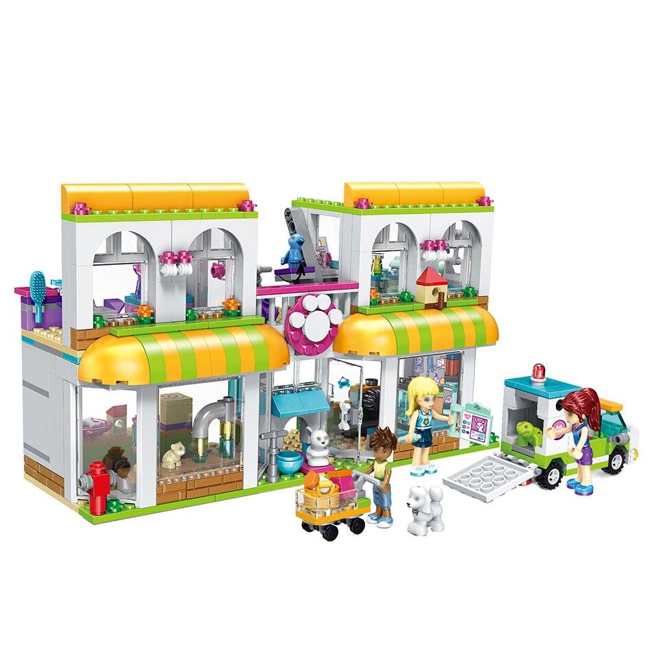 491 Uds pequeños bloques de construcción compatibles con lepings Friends City Pet Ceter juguetes para niños regalo niñas niños DIY
