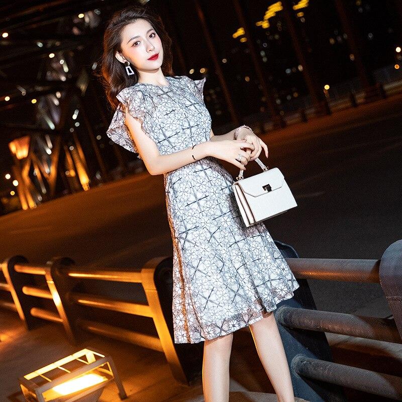Qipao-vestidos de fiesta estilo Hepburn, vestido de hada ajustado apretado, vestido Sexy...