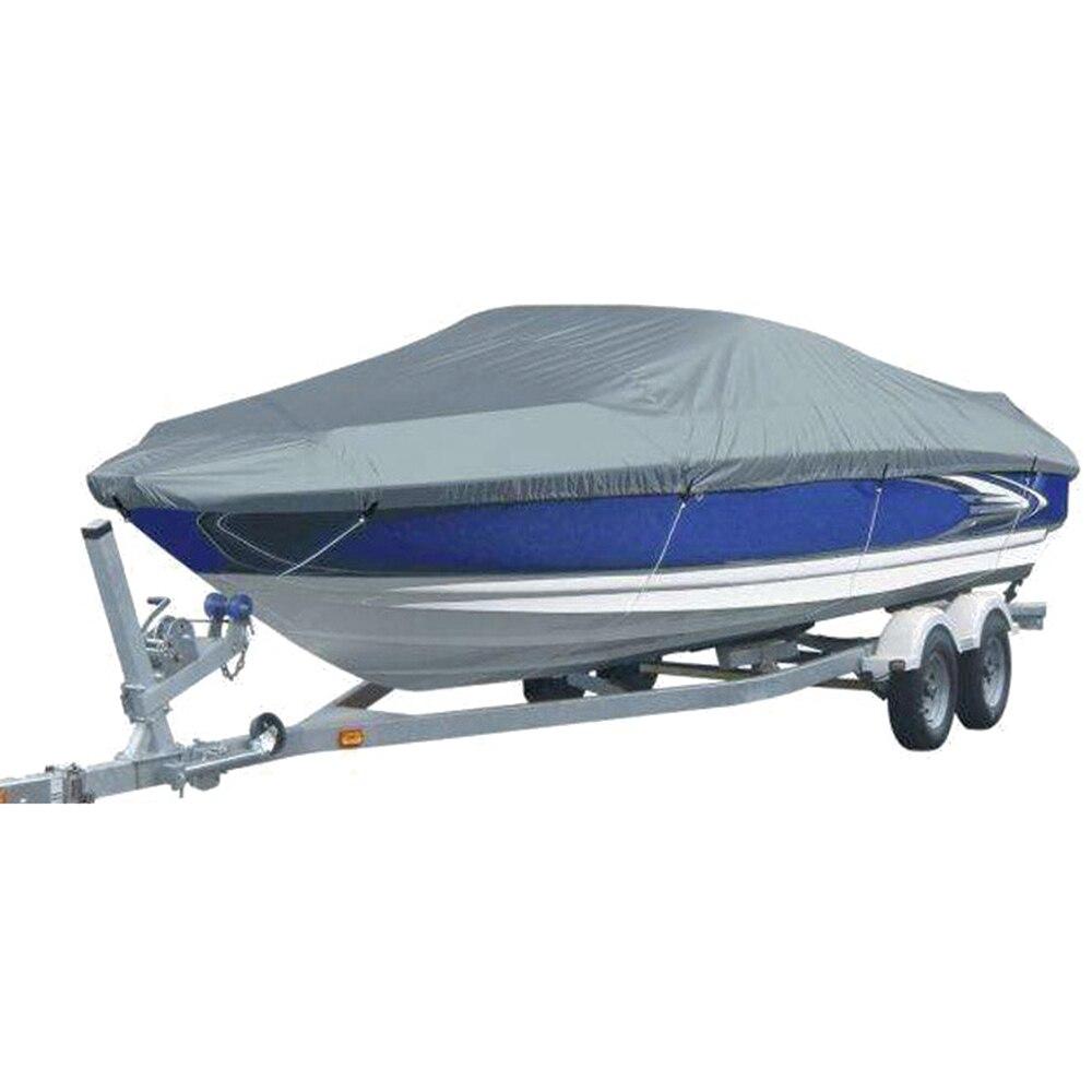 11-2ft trailable 210D cubierta de barco impermeable pesca esquí V-casco Protector UV Speedboat Mooring cubierta de calidad superior