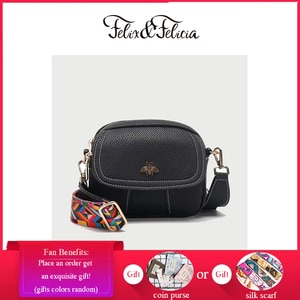 FELIX & FELICIA Fashion Casual Shoulder Bags For Women 2021 Ladies Simple Crossbody Brand Female PU Leather Small Messenger Bag