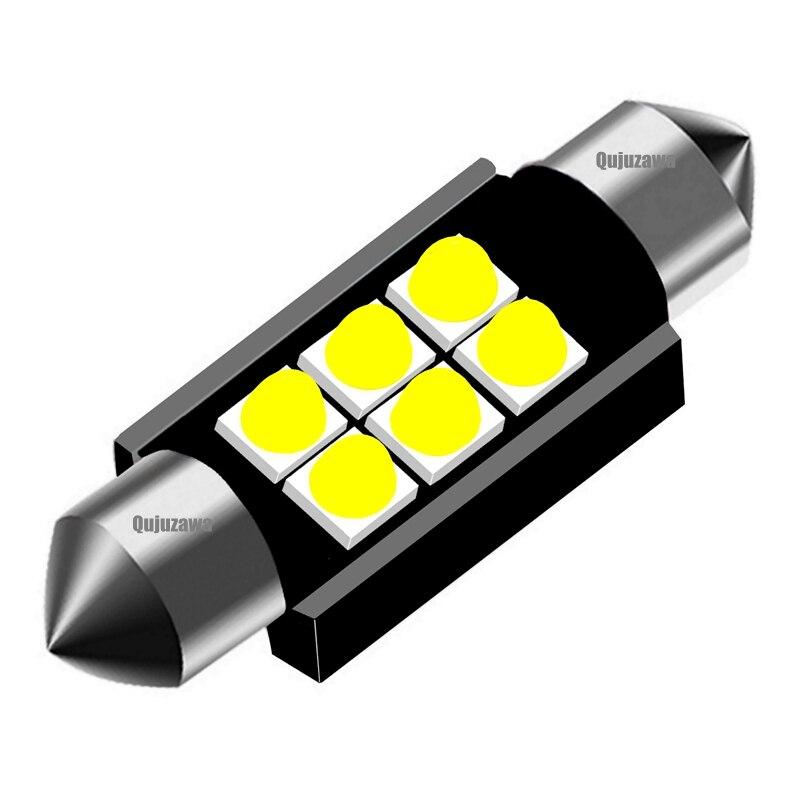 Festón 31mm 36mm 39mm 41mm Super brillante Cree bombilla Led con Chip C5W C10W luz de techo de automóvil Canbus sin Error Lámpara de lectura Interior de coche