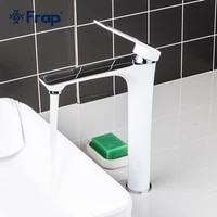 frap high bathroom basin faucet white taps wash hand face hot cold water mixer washbasin faucets f1052 54