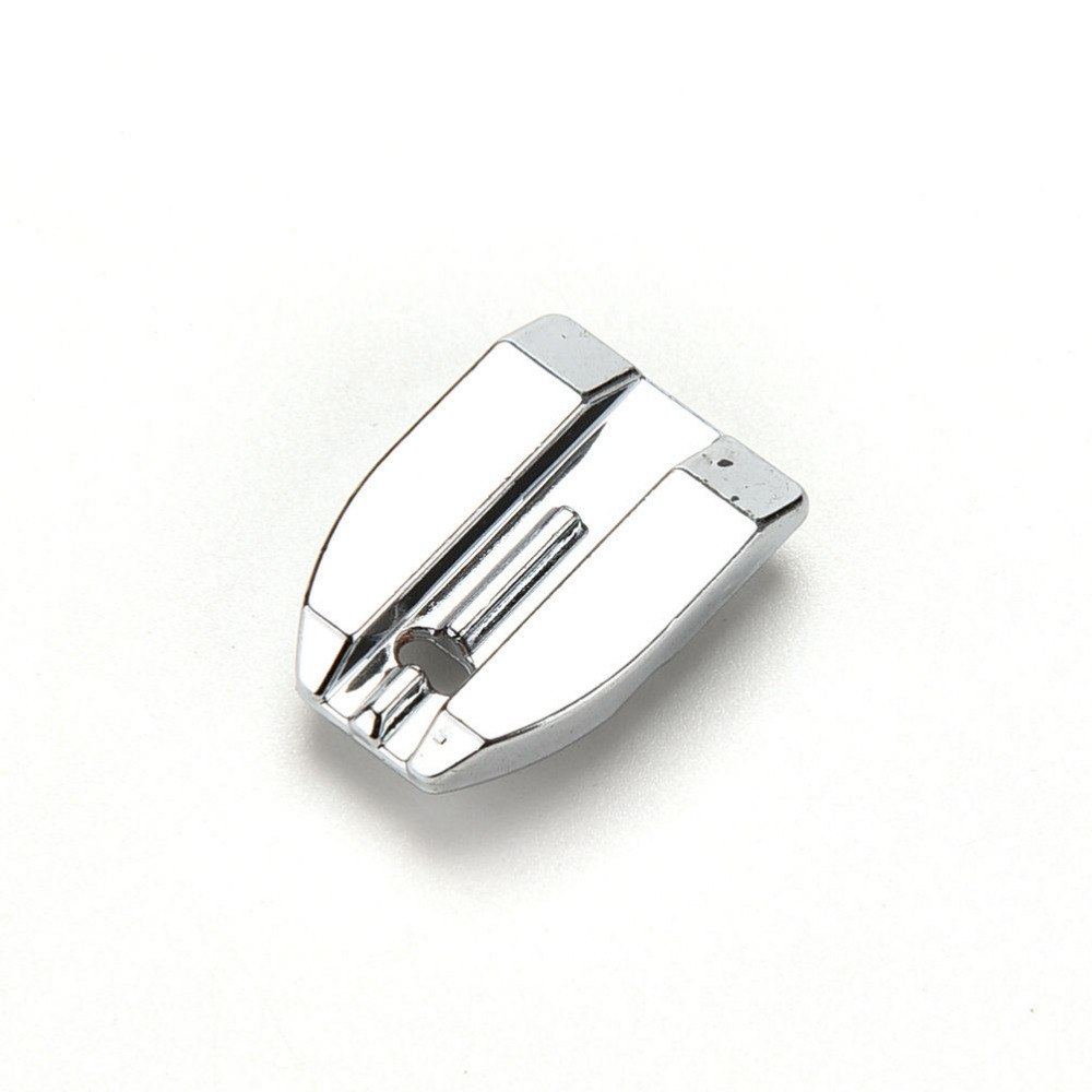 1 Uds. Prensatelas de Metal máquina de coser cremallera Invisible ocultar pie para Brother Singer 23mm x 16mm