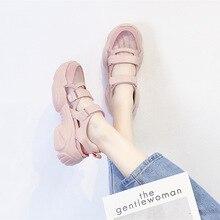 Femmes Baotou sandales femmes 2020 plate-forme chaussures mode Baotou sandales maille vêtements respirants résistant chaussures pour femmes BG-43
