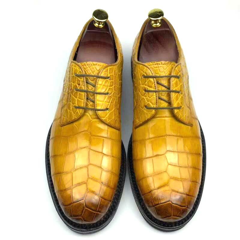 Chue-حذاء جلد التمساح للرجال ، حذاء رسمي للترفيه ، لحفلات الزفاف ، جديد
