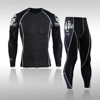 mens compression sportswear suits gym tights training clothes workout jogging sports set running rashguard tracksuit for men