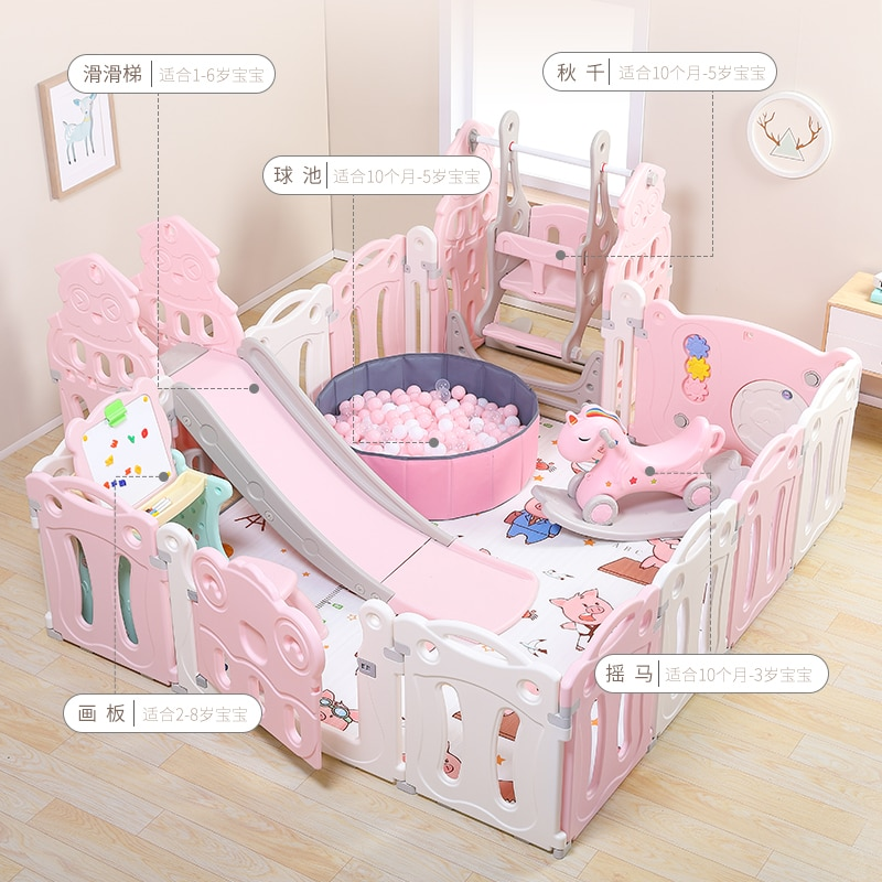 Children Indoor Gaming Fence Baby Household Amusement Park Crawl Pad Infant Safe Learner Fence Protection Toy