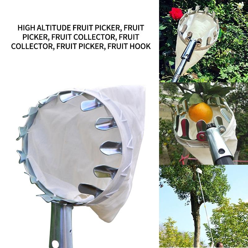 Кошница за глави за събиране на плодове преносим ловец за плодове за бране на реколтата колектор за събиране на цитрусови круши ловец прасковен инструмент за бране на праскови