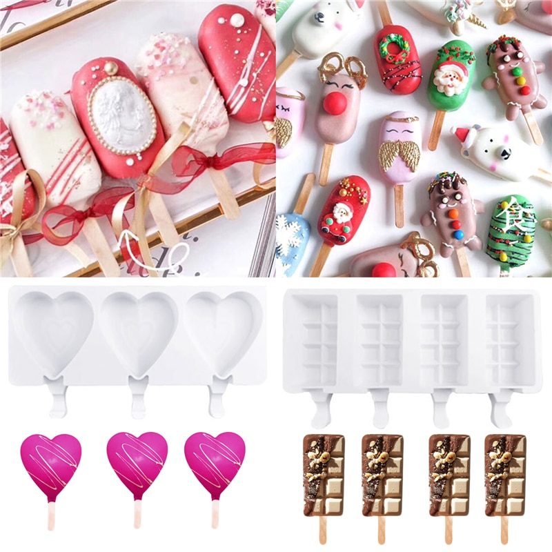 Kitchen Ice Cream Mold Magnum Silicone Mold Ice Cube Maker Mould DIY Homemade Popsicle Mold Freezer Ice Cube Tray Popsicle Maker недорого
